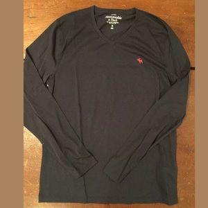 Men's Abercrombie Long Sleeve Shirt Navy